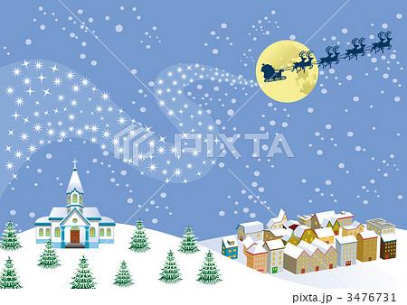 クリスマスの街のイラスト素材 3476731 Pixta