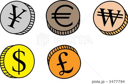 イラスト素材: 通貨