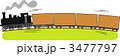 機関車 SL 貨車のイラスト 3477797