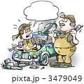 肉体労働者 メンテナンス 自動車修理のイラスト 3479049