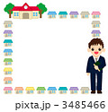 家庭訪問の飾り枠 3485466