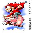 Elf Riding A Christmas Pig 3525254