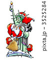 Statue of Liberty holding Santa Claus 3525284
