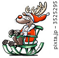 Reindeer sits in his rocking chair and waiting for Christmas 3525295