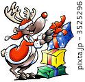 Rudolph stacking Christmas gifts 3525296