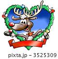 トナカイ クリスマス クリスマスカードのイラスト 3525309