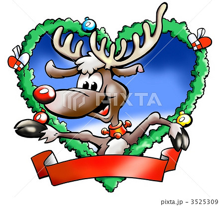 Reindeer in a Christmas decoration fraim 3525309