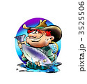 Proud Angler with a big salmon fish 3525506