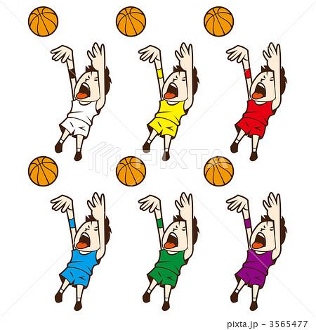 ミニバス 球技 バスケのイラスト素材