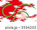 大空を飛ぶ龍/赤背景 3594203