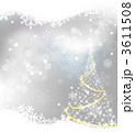 ベクター ホワイトクリスマス クリスマスツリーのイラスト 3611508