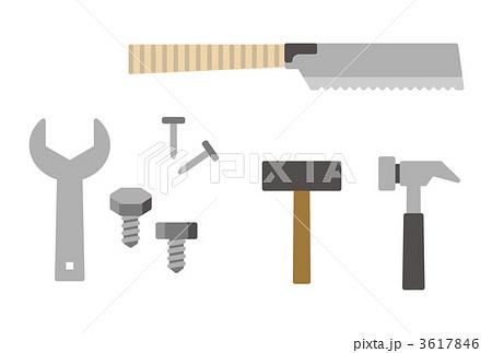 工具セット 道具 大工道具のイラスト素材 3617846 Pixta