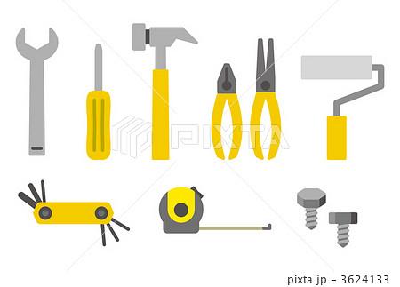 工具類 道具 大工道具のイラスト素材 3624133 Pixta