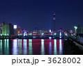 隅田川 清洲橋 東京スカイツリーの写真 3628002