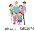 祖父母 三世代 両親のイラスト 3638079