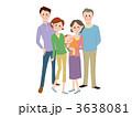 祖父母 三世代 おばあちゃんのイラスト 3638081