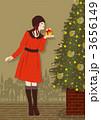 プレゼント クリスマスツリー プレゼントボックスのイラスト 3656149