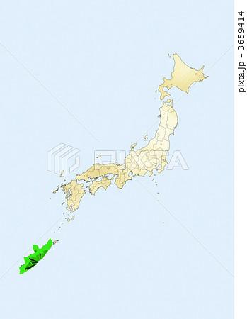 3659414. 日本列島 日本地図 沖縄