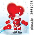 xマス クリスマス サンタクロースのイラスト 3661978