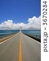 夏雲 来間大橋 積雲の写真 3670284