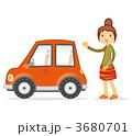 乗用車 女子 女性のイラスト 3680701