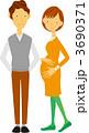 妊婦 夫婦 家族のイラスト 3690371
