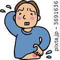 湿疹 ベクター 疾患のイラスト 3691636