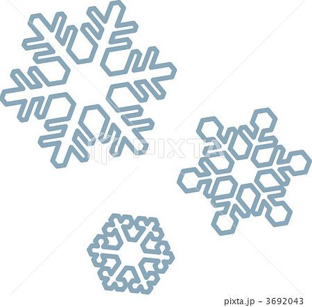 雪の結晶のイラスト素材 3692043 Pixta
