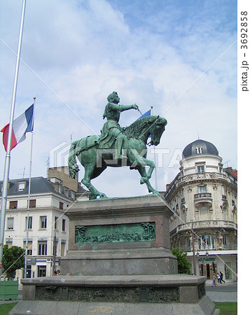 フランス、オルレアン、ジャンヌダルク銅像 3692858