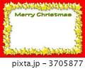 メリークリスマス クリスマスカード フレームのイラスト 3705877