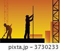 働く 労働 影のイラスト 3730233