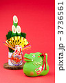 正月飾り 辰 賀正の写真 3736561