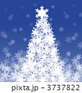 雪の結晶で出来たクリスマスツリー 3737822