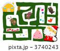 迷路 サンタクロース クリスマスのイラスト 3740243