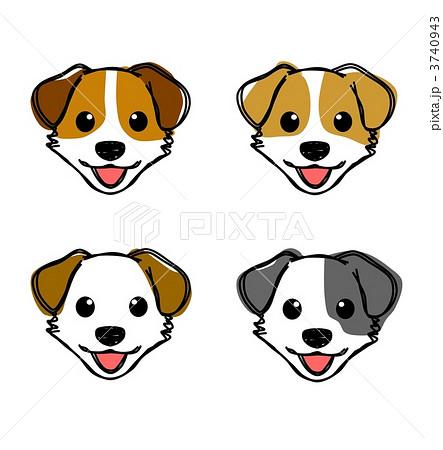 犬 ジャックラッセル 顔のイラスト素材 3740943 Pixta