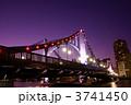 清洲橋 夜景 ライトアップの写真 3741450