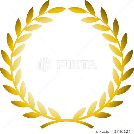 月桂冠/金のイラスト素材 3746124 Pixta