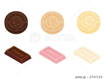 クッキーチョコ手書きのイラスト素材 3747153 Pixta