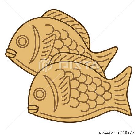 鯛焼きのイラスト素材 3748877 Pixta