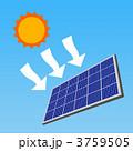 太陽光発電 ソーラーパワー ソーラーパネルのイラスト 3759505
