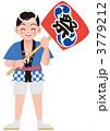 うちわ 祭り 女の子のイラスト 3779212