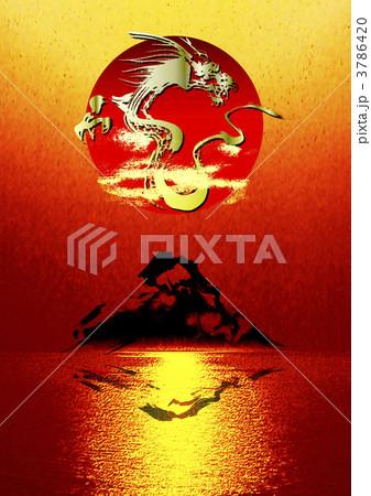 富士山に舞う龍 3786420