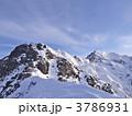 冬山 山岳 岩山の写真 3786931