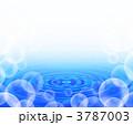 水 波紋 泡のイラスト 3787003