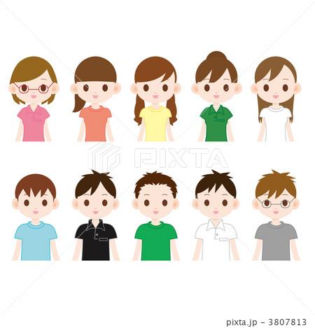 大学生 10人のイラスト素材 3807813 Pixta