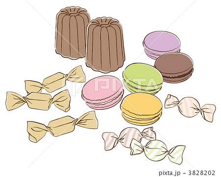 お菓子のイラスト素材 3828202 Pixta
