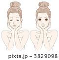 美肌 スキンケア 美白のイラスト 3829098