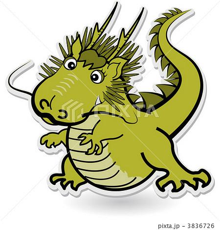 可愛い緑色のドラゴン 3836726