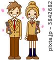 卒業式 高校生 卒業のイラスト 3842682