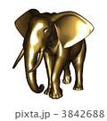陸上動物 象 置物のイラスト 3842688